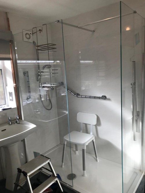 Mobility bathroom following re-design and refurbishment